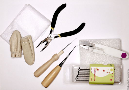 Валяние ручной работы. Ярмарка Мастеров - ручная работа. Купить Набор инструментов для валяния. Handmade. Комбинированный, для валяния, для сухого валяния