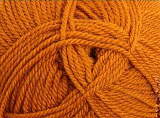 """Вязание ручной работы. Ярмарка Мастеров - ручная работа. Купить пряжа для вязания шерсть  Охра"""",100g. Handmade. Рыжий"""