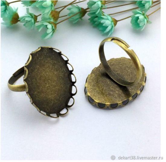 Ring base, 13h18 mm, 18h25 mm. Art.OK30, Blanks for jewelry, Irkutsk,  Фото №1