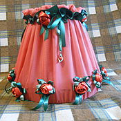 Для дома и интерьера handmade. Livemaster - original item terracotta lampshade with roses. Handmade.