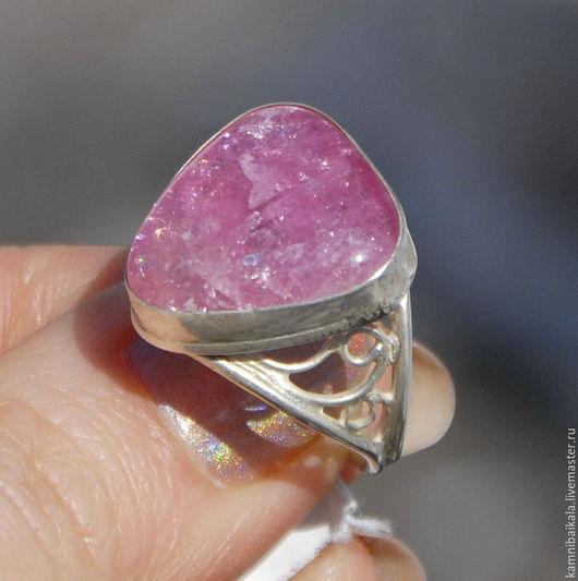 Кольца ручной работы. Ярмарка Мастеров - ручная работа. Купить Кольцо с турмалином (Р12). Handmade. Розовый, кольцо с турмалином