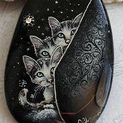 """Украшения ручной работы. Ярмарка Мастеров - ручная работа Кулон """"Котята"""" зима. Handmade."""