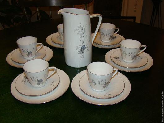 Винтажная посуда. Ярмарка Мастеров - ручная работа. Купить Bavaria-Кофейный фарфоровый  сервиз(13 пр). Handmade. Кофейный сервиз, фарфор