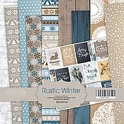 Материалы для творчества handmade. Livemaster - original item Set SM2100011 Paper Rustic Winter 30х30. Handmade.