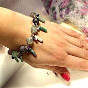 Украшения handmade. Livemaster - original item Bracelet made of fluorite, jasper and agate