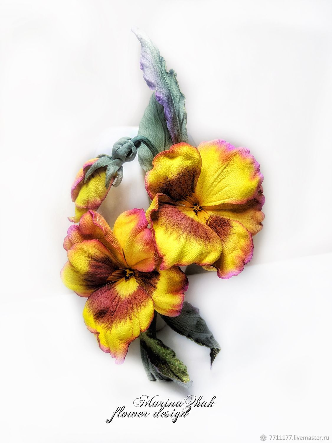 Pansies of genuine leather -, Brooches, Hanoi,  Фото №1