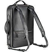 "Сумки и аксессуары handmade. Livemaster - original item Кожаный рюкзак-сумка ""Лесснер"" (черный). Handmade."