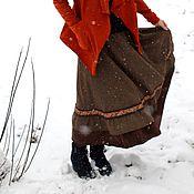 """Одежда ручной работы. Ярмарка Мастеров - ручная работа Теплая юбочка """"Веселая зима"""". Handmade."""