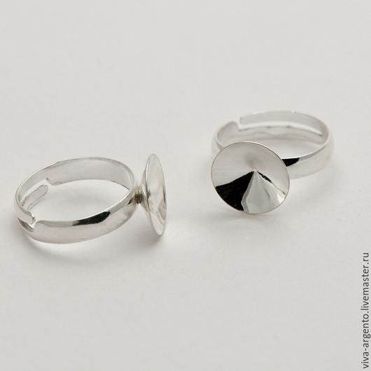 Для украшений ручной работы. Ярмарка Мастеров - ручная работа. Купить Кольцо под риволи 12 мм  серебро 925. Handmade.