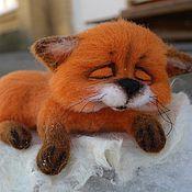 """Куклы и игрушки ручной работы. Ярмарка Мастеров - ручная работа Войлочный Лисёнок""""Рыжик!"""". Handmade."""