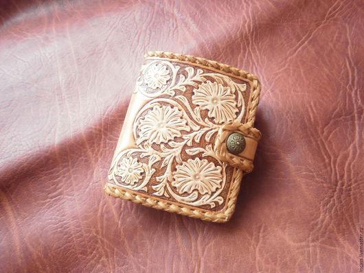 Кошельки и визитницы ручной работы. Ярмарка Мастеров - ручная работа. Купить кошелёк портмоне из  кожи кошелёк женский кожаный ручной работыб. Handmade.