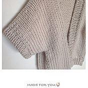 Одежда ручной работы. Ярмарка Мастеров - ручная работа Кардиган вязаный, Жакет с рукавами. Handmade.