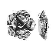 Материалы для творчества ручной работы. Ярмарка Мастеров - ручная работа Серебряный кулон подвеска Цветок Серебро 925 пробы Подарок для женщины. Handmade.