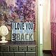 ДЛЯ ПРИМЕРА! `Любовь...` больших размеров (на данном фото 46х56 см) в интерьере заказчика. Стоимость работы в таком формате от 6 500 руб.