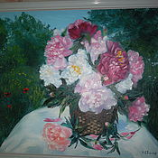 Картины и панно handmade. Livemaster - original item Oil painting flowers landscape
