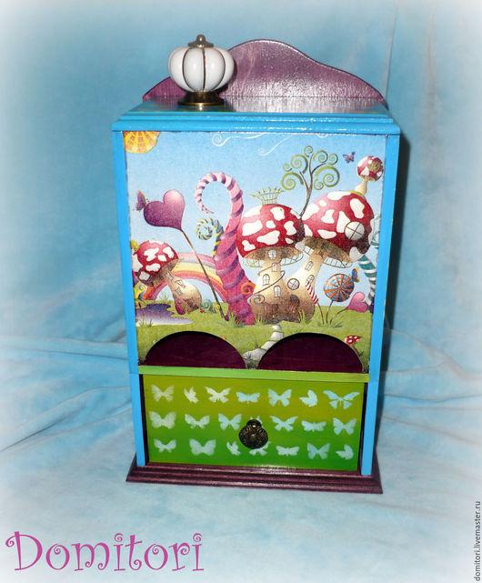 """Кухня ручной работы. Ярмарка Мастеров - ручная работа. Купить Чайный комод """"Фантазия"""". Handmade. Голубой, подарок девушке"""