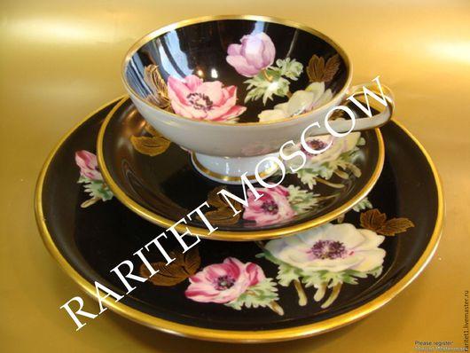 Винтажная посуда. Ярмарка Мастеров - ручная работа. Купить РЕДКОСТЬ Чайная пара тройка чашка Германия 8. Handmade. rw