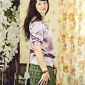 Одежда ручной работы. Ярмарка Мастеров - ручная работа Юбка Паучки из хлопка. Handmade.