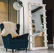 Для дома и интерьера ручной работы. Ярмарка Мастеров - ручная работа Зеркало Dallas напольное с лампочками. Handmade.
