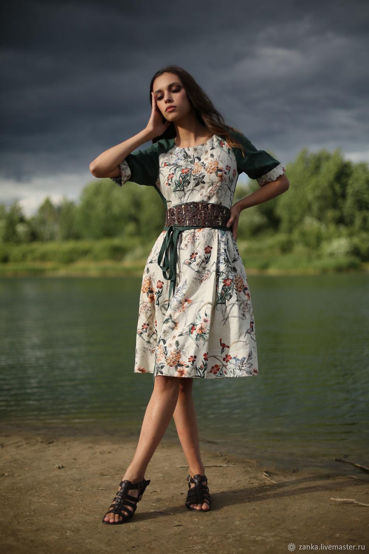 Linen dress ' Fairy of the forest', Dresses, Baranovichi,  Фото №1