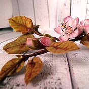 """Свадебный салон ручной работы. Ярмарка Мастеров - ручная работа """"Моя весна. Вишня."""" Венок-ветка ручной работы. Продан. Handmade."""