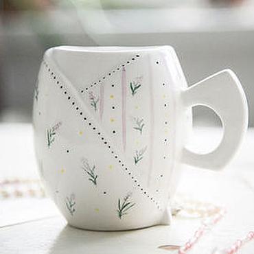 Посуда ручной работы. Ярмарка Мастеров - ручная работа Лаванда шебби.. Чашка ручной работы, керамика. Handmade.
