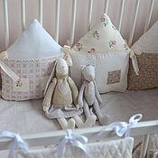 Для дома и интерьера ручной работы. Ярмарка Мастеров - ручная работа Бортики  в детскую кроватку, бортики-домики. Handmade.