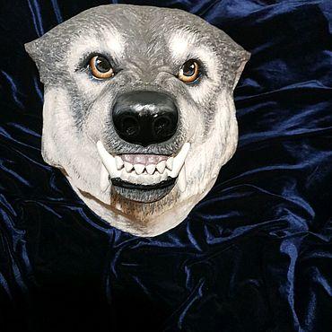 Сувениры и подарки ручной работы. Ярмарка Мастеров - ручная работа Голова волка из дерева резьба. Handmade.