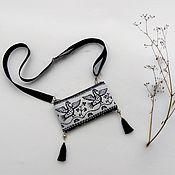 Русский стиль handmade. Livemaster - original item Handbag-purse with birds. Bag pocket linen cotton. Handmade.