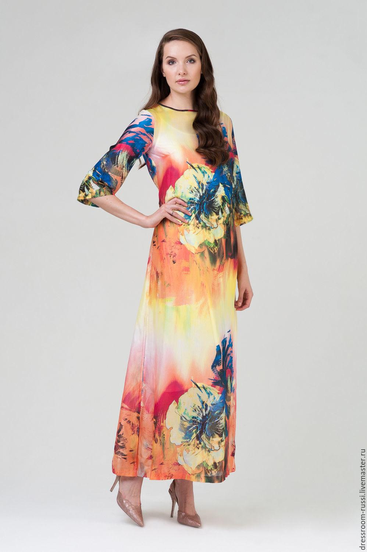 Платья из шелка на лето