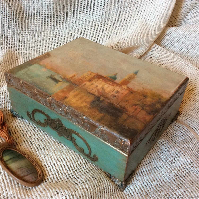 Шкатулка винтажная для хранения Письма из Венеции, Шкатулки, Москва, Фото №1