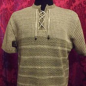 Одежда handmade. Livemaster - original item 100% linen Men`s Polo shirt COMFORT. Handmade.