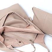 Сумки и аксессуары handmade. Livemaster - original item Summer Leather Bag-Shopping bag Shopper bag string bag leather rose. Handmade.