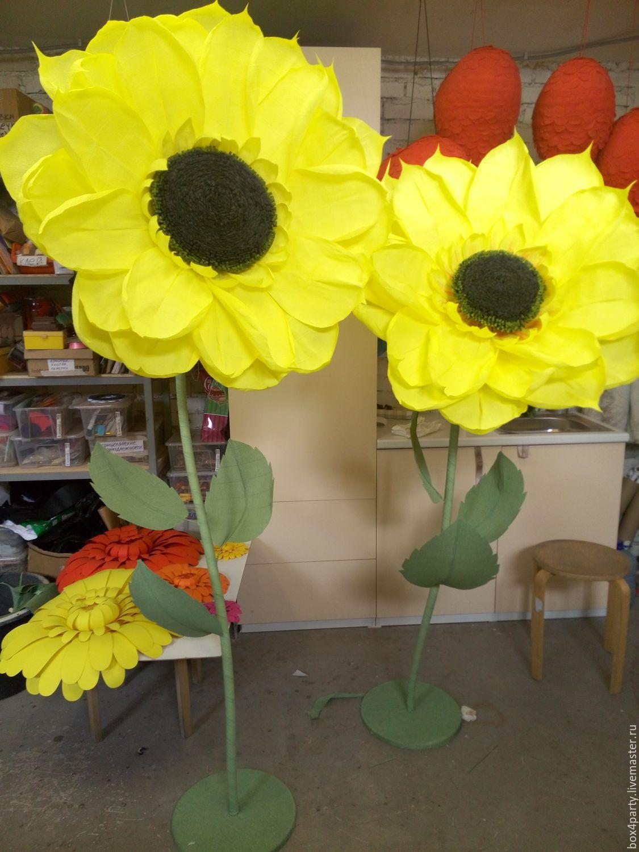 Цветы с стеблем из бумаги своими руками