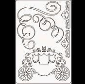 Материалы для творчества ручной работы. Ярмарка Мастеров - ручная работа Набор чипборда коллекция Королевский бал Карета. Handmade.