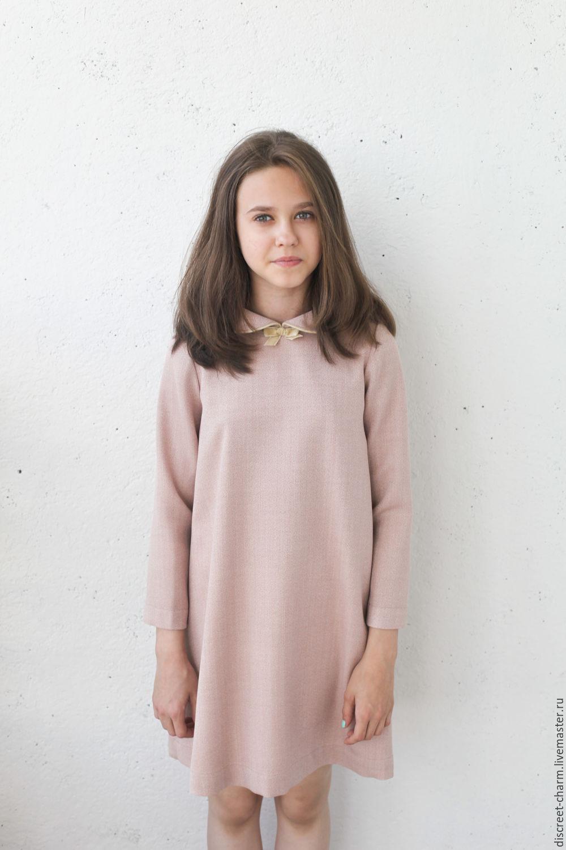 Платья для девочек шерстяные