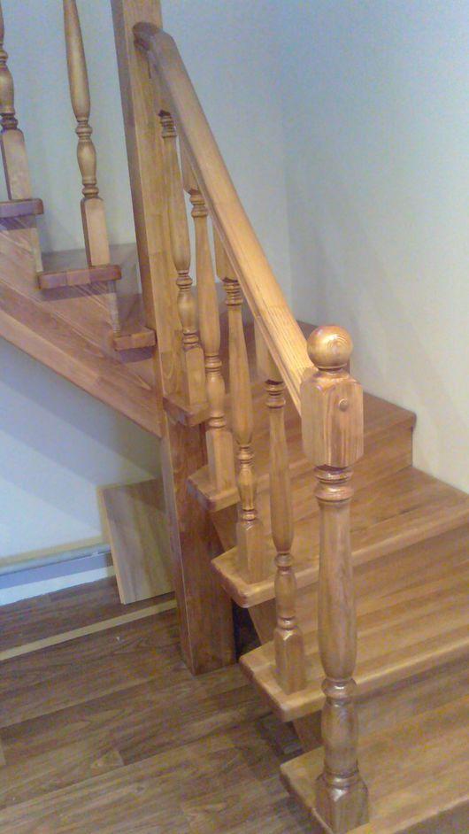 Элементы интерьера ручной работы. Ярмарка Мастеров - ручная работа. Купить Лестница из массива. Handmade. Бежевый, деревянная мебель