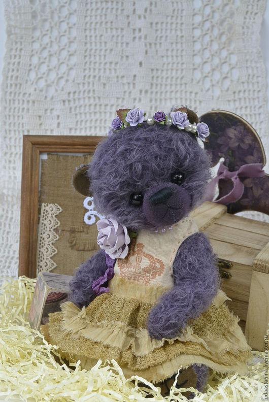 """Мишки Тедди ручной работы. Ярмарка Мастеров - ручная работа. Купить Ledi """"Violet""""(коллекционный мишка тедди).. Handmade. Мишка тедди"""