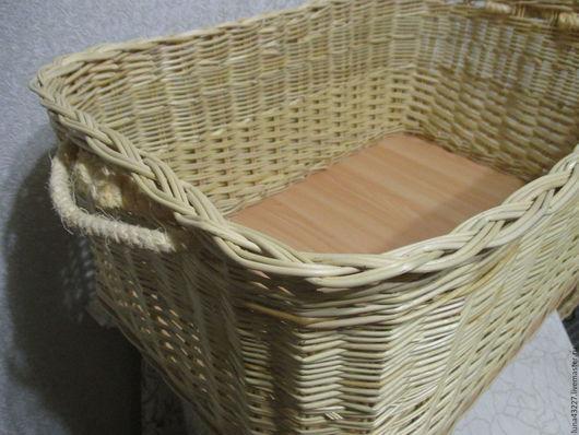 Корзины, коробы ручной работы. Ярмарка Мастеров - ручная работа. Купить Короб прямоугольный из ивовой лозы с ручками из каната. Handmade.