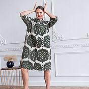 handmade. Livemaster - original item Ikat Style Cotton Dress. Handmade.