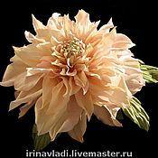 Украшения handmade. Livemaster - original item Silk flowers.Brooch hairpin DAHLIA SUN. Natural silk.. Handmade.
