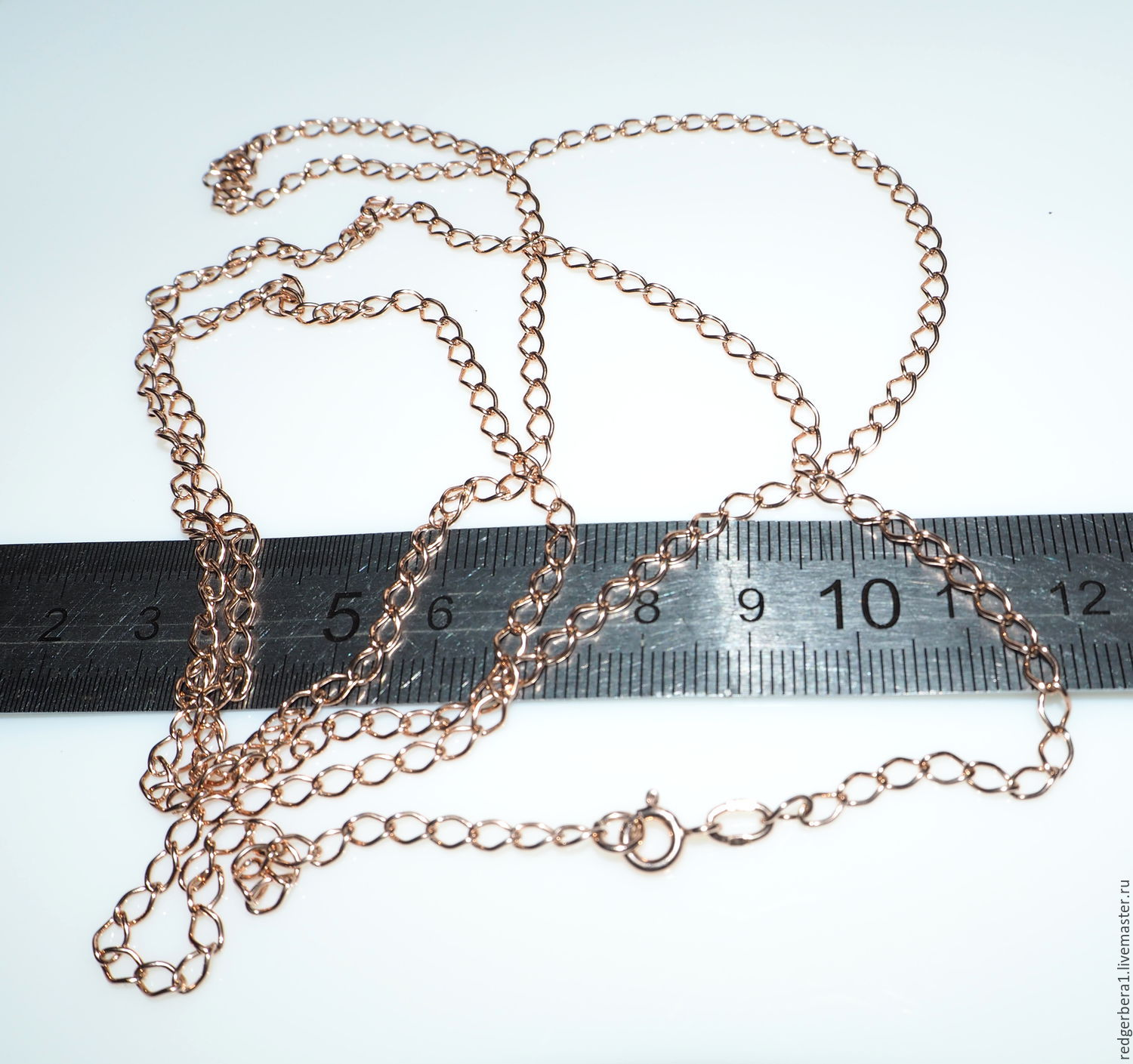 Silver chain large link 5 cm, covered with rhodium or gold, Chains, Kostroma,  Фото №1