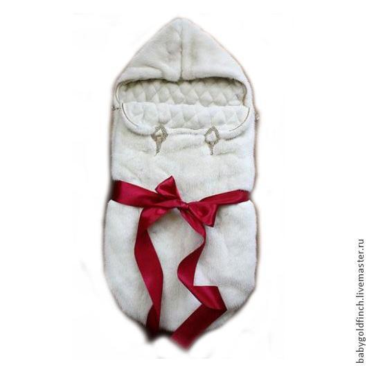 Изготовление конвертов для новорожденных из натурального меха на заказ