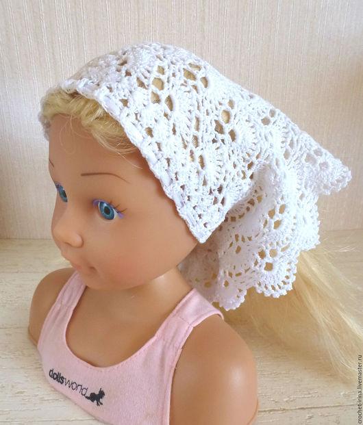 Шапки и шарфы ручной работы. Ярмарка Мастеров - ручная работа. Купить Косынка для девочки. Handmade. Белый, косынка ажурная
