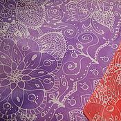 """Аксессуары ручной работы. Ярмарка Мастеров - ручная работа Платок """"Кружево на фиолетовом"""". Handmade."""