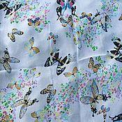 Fabric handmade. Livemaster - original item Silk stole Butterfly. Handmade.