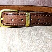 Ремни ручной работы. Ярмарка Мастеров - ручная работа Мужской кожаный ремень из кожи буйвола. Handmade.