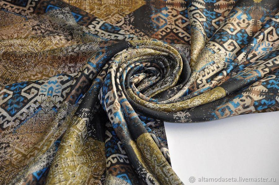 Шелковый муслин с принтом, Ткани, Москва,  Фото №1