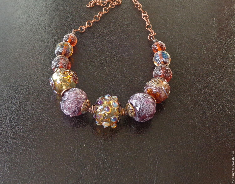 Parisienne necklace lampwork, Necklace, St. Petersburg,  Фото №1