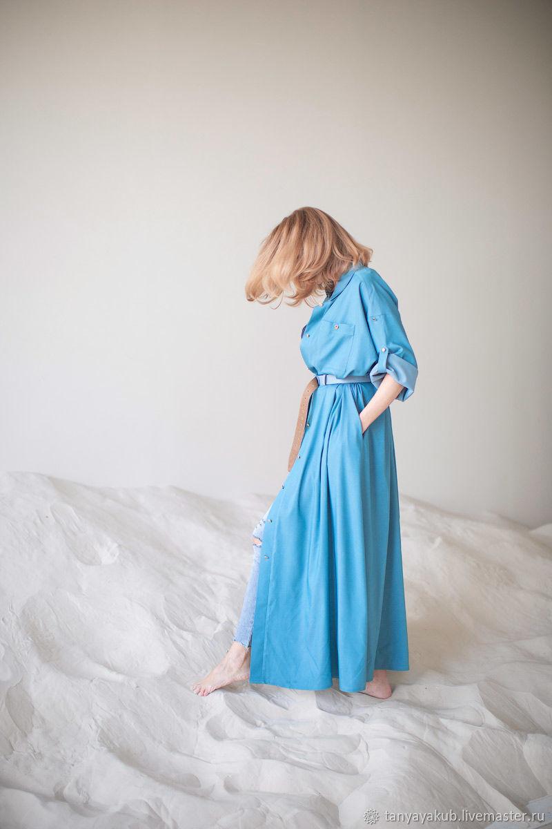 Платье джинсТенселНебо, Платья, Зеленоград,  Фото №1